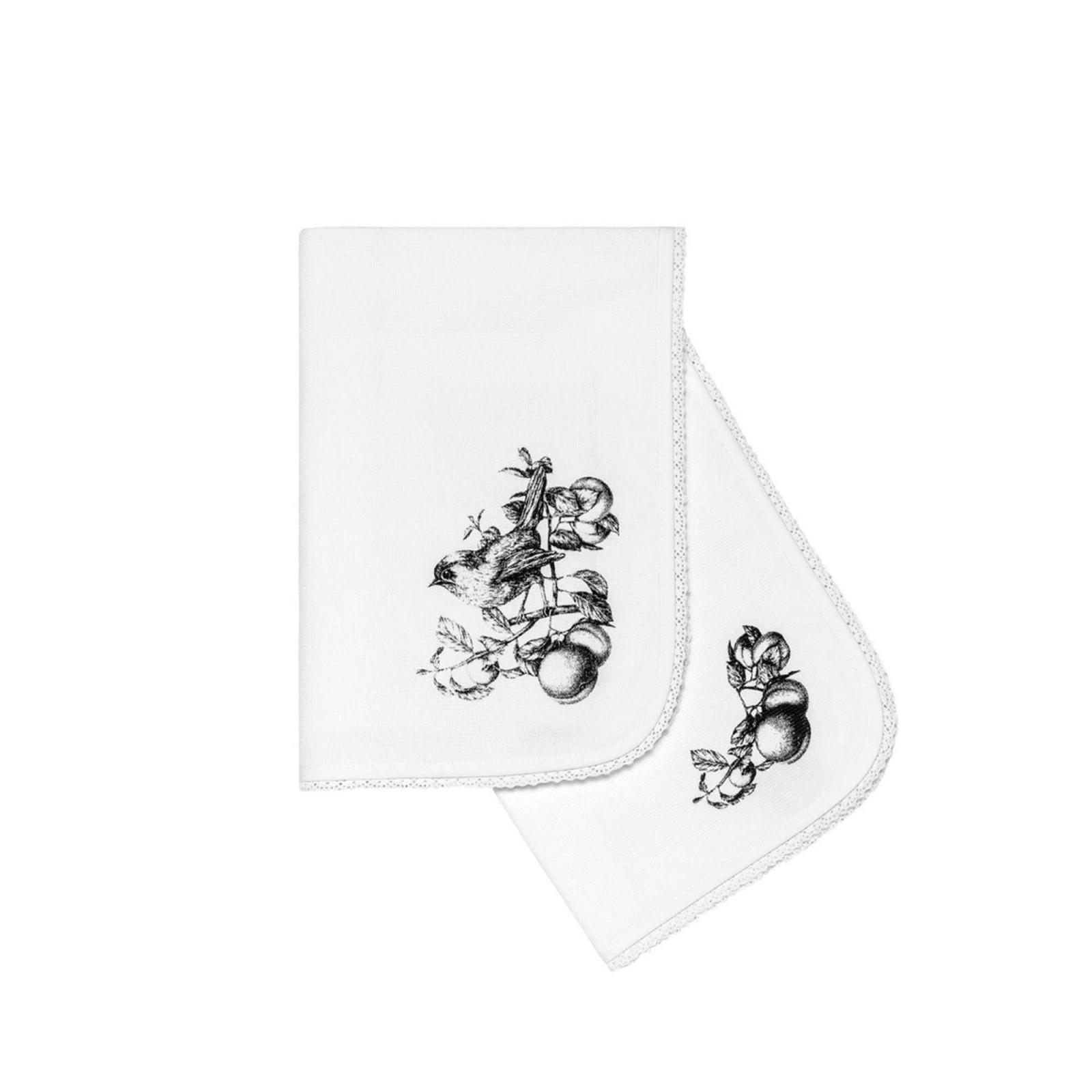 где купить {} Togas Кухонное полотенце Винтаж Цвет: Белый-Серый (40х60 см - 2 шт) по лучшей цене