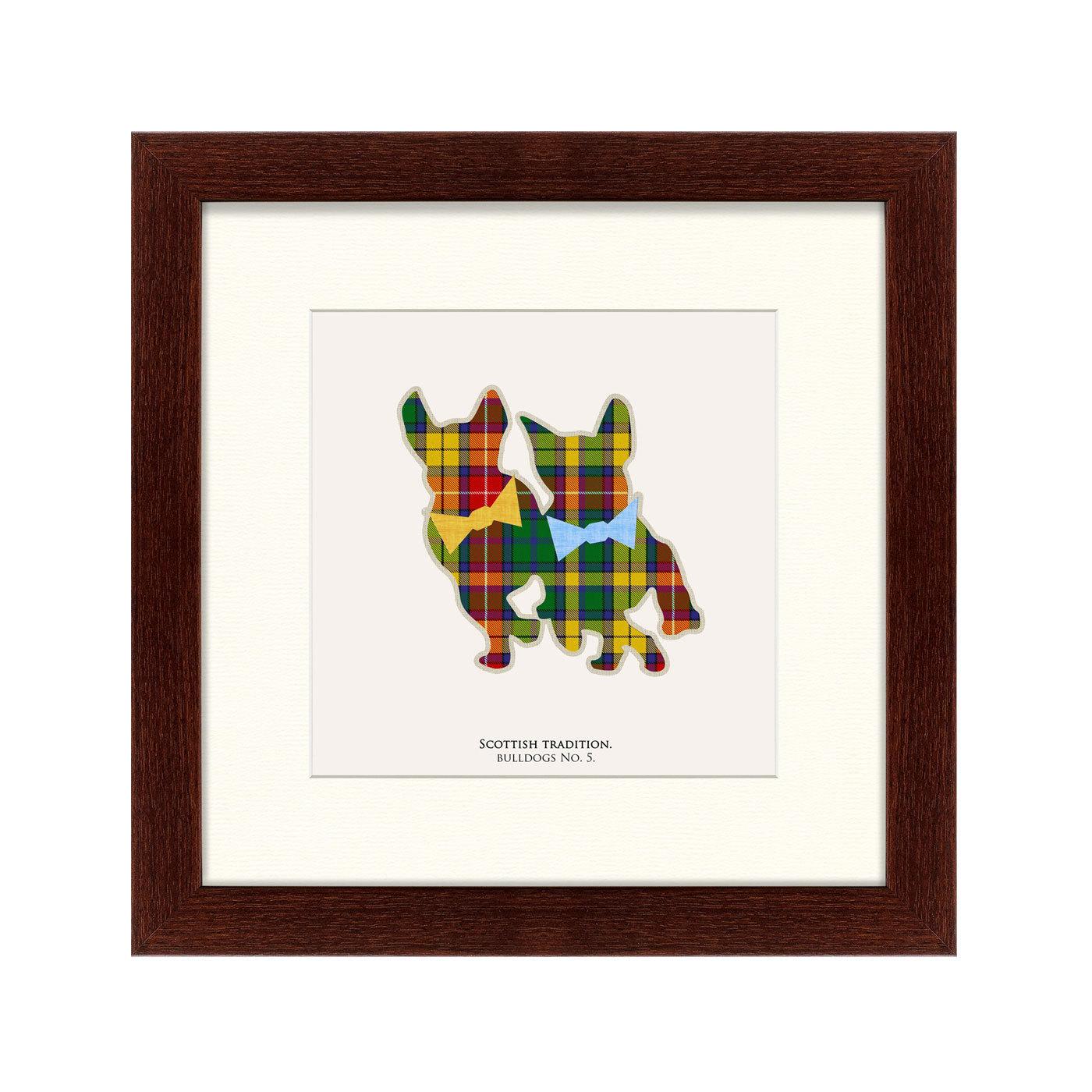 {} Картины в Квартиру Картина Бульдоги В Шотландской Клетке (35х35 см) картины в квартиру картина каллы 2 35х35 см