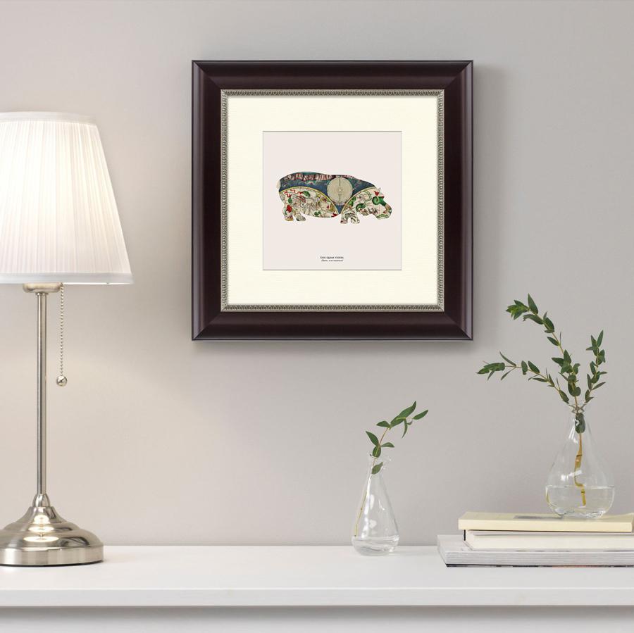 {} Картины в Квартиру Картина Бегемот (35х35 см) картины в квартиру картина бульдоги в шотландской клетке 35х35 см