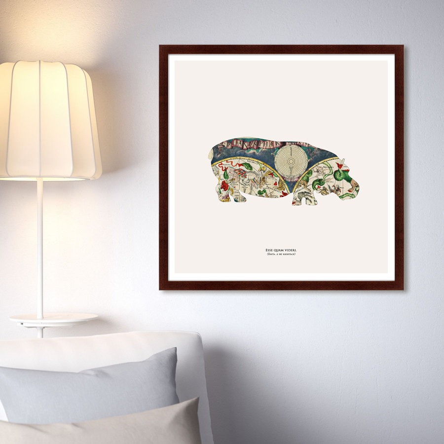 {} Картины в Квартиру Картина Бегемот (79х79 см) картины в квартиру картина дерево на воде 102х130 см