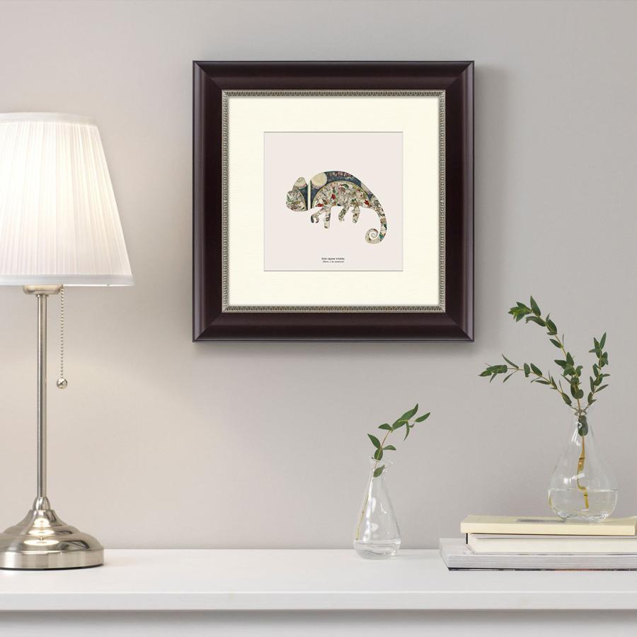 {} Картины в Квартиру Картина Хамелеон (35х35 см) куплю квартиру в ялте евпотории