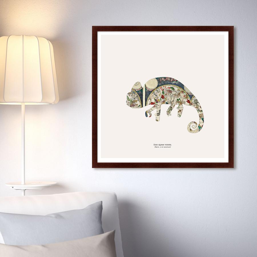 {} Картины в Квартиру Картина Хамелеон (79х79 см) картины в квартиру картина дерево на воде 102х130 см