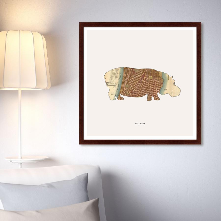 {} Картины в Квартиру Картина Hippo (79х79 см) картины в квартиру картина над горами 35х77 см