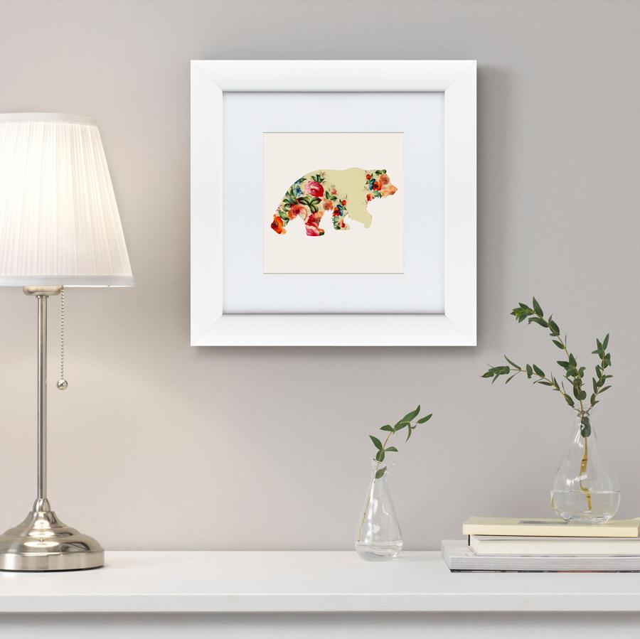 {} Картины в Квартиру Картина Русская Краса, Медведь В Цветах (35х35 см) картины в квартиру картина опасные домохозяйки 2 35х35 см