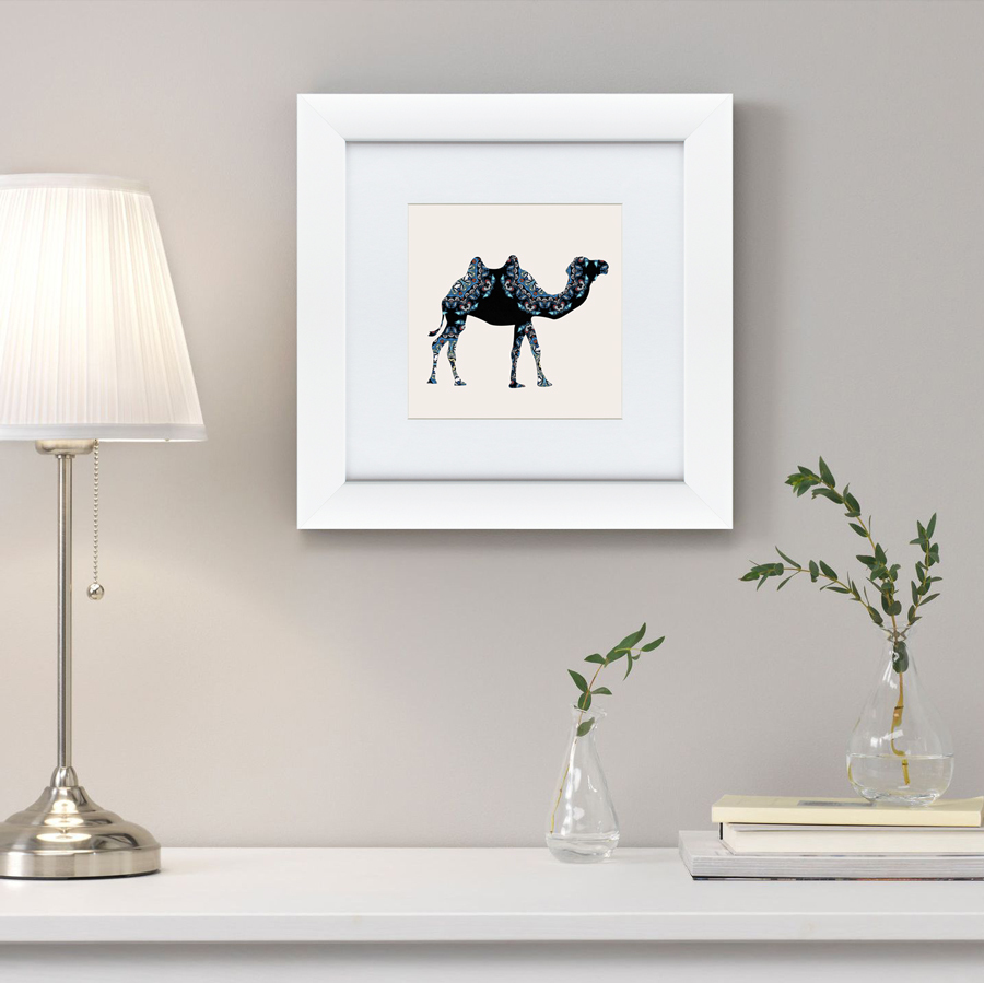 {} Картины в Квартиру Картина Восточная Яркость, Верблюд (35х35 см) картины в квартиру картина бульдоги в шотландской клетке 35х35 см