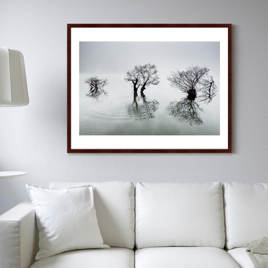 {} Картины в Квартиру Картина Вода, Деревья, Утро (102х130 см) картины в квартиру картина дерево на воде 102х130 см