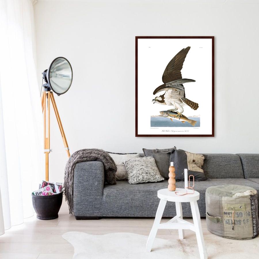 {} Картины в Квартиру Картина Орел-Рыбак (102х130 см) картины в квартиру картина дерево на воде 102х130 см