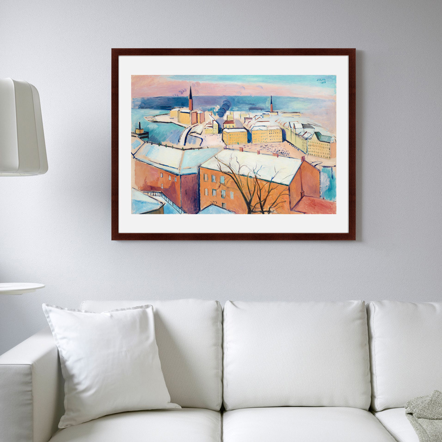 {} Картины в Квартиру Картина Зимний Стокгольм (79х100 см) картины в квартиру картина бульдоги в шотландской клетке 35х35 см