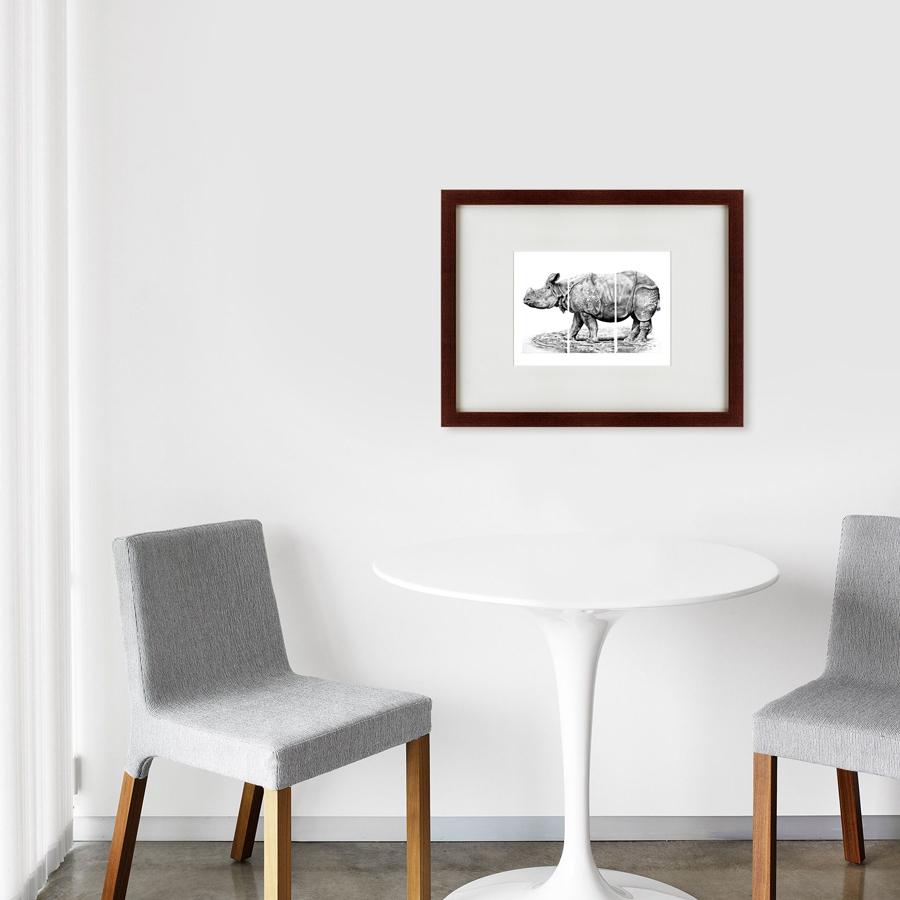 {} Картины в Квартиру Картина Носорог (47х60 см) картины в квартиру картина бульдоги в шотландской клетке 35х35 см