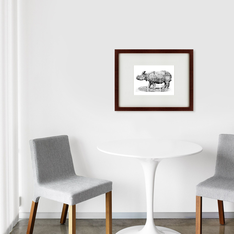 {} Картины в Квартиру Картина Носорог (47х60 см) картины в квартиру картина каллы 2 35х35 см