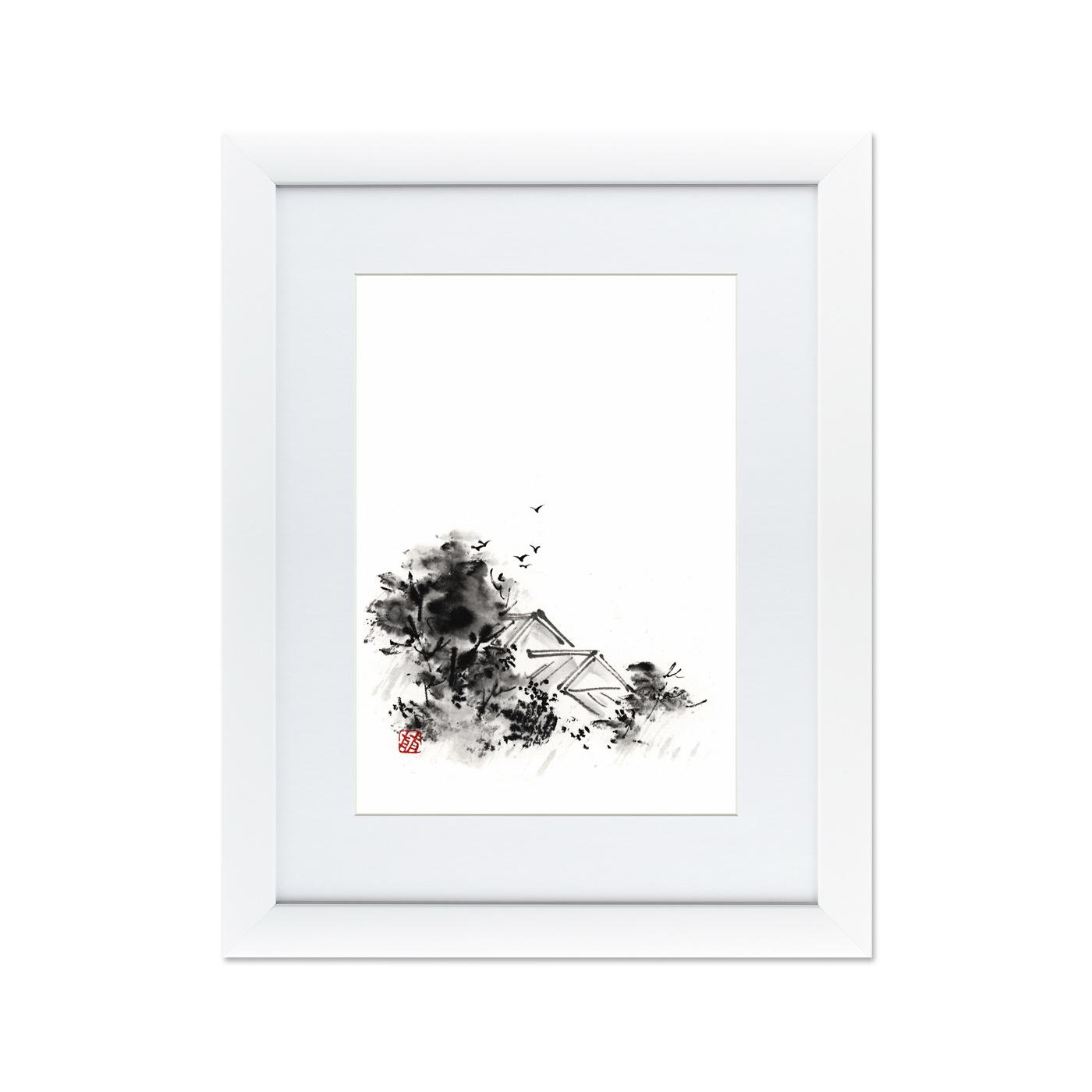 {} Картины в Квартиру Картина Японская Акварель Суми-э, №4 (47х60 см) картины в квартиру картина пилигрим из мешхеда 47х60 см