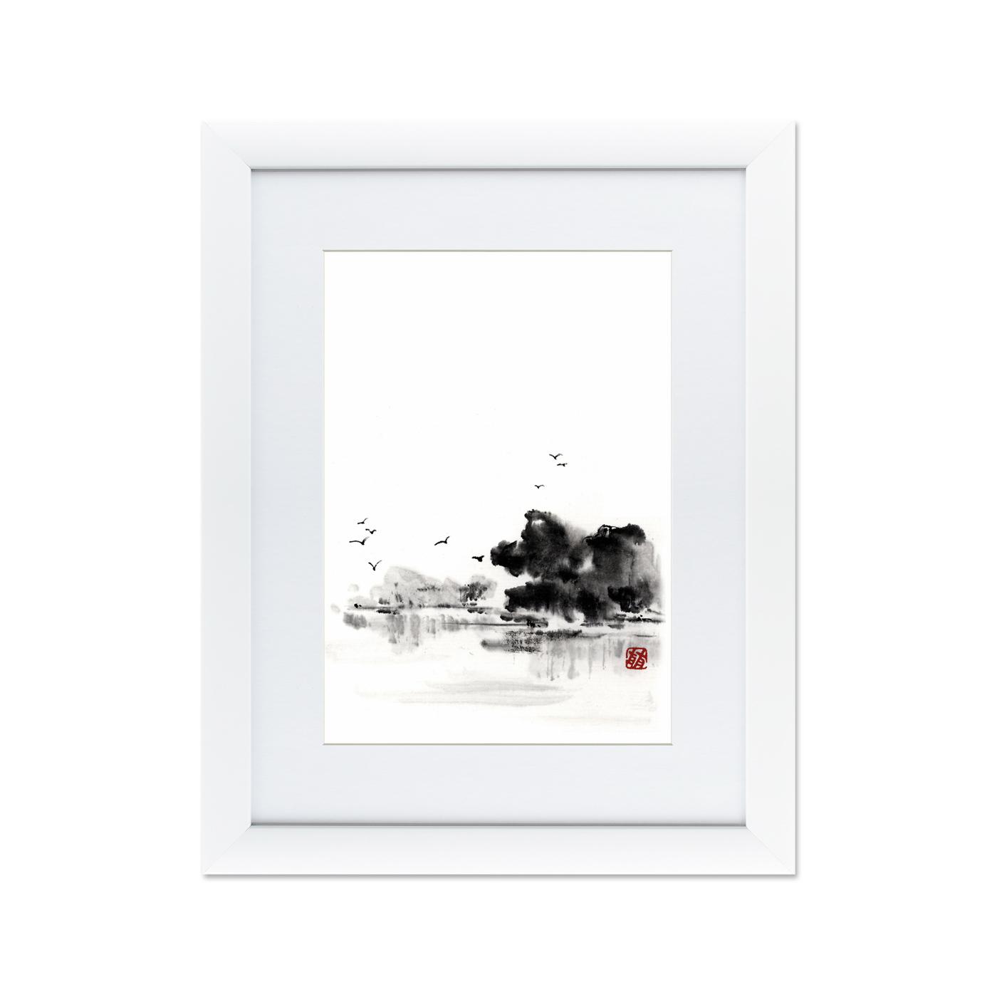 {} Картины в Квартиру Картина Японская Акварель Суми-э, №5 (47х60 см) картины в квартиру картина пилигрим из мешхеда 47х60 см
