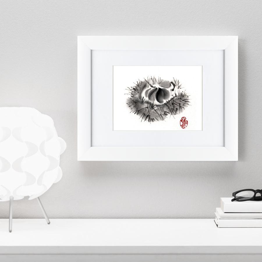 {} Картины в Квартиру Картина Японская Акварель Суми-э, Фрукт (35х45 см) картины в квартиру картина убранное поле 35х45 см