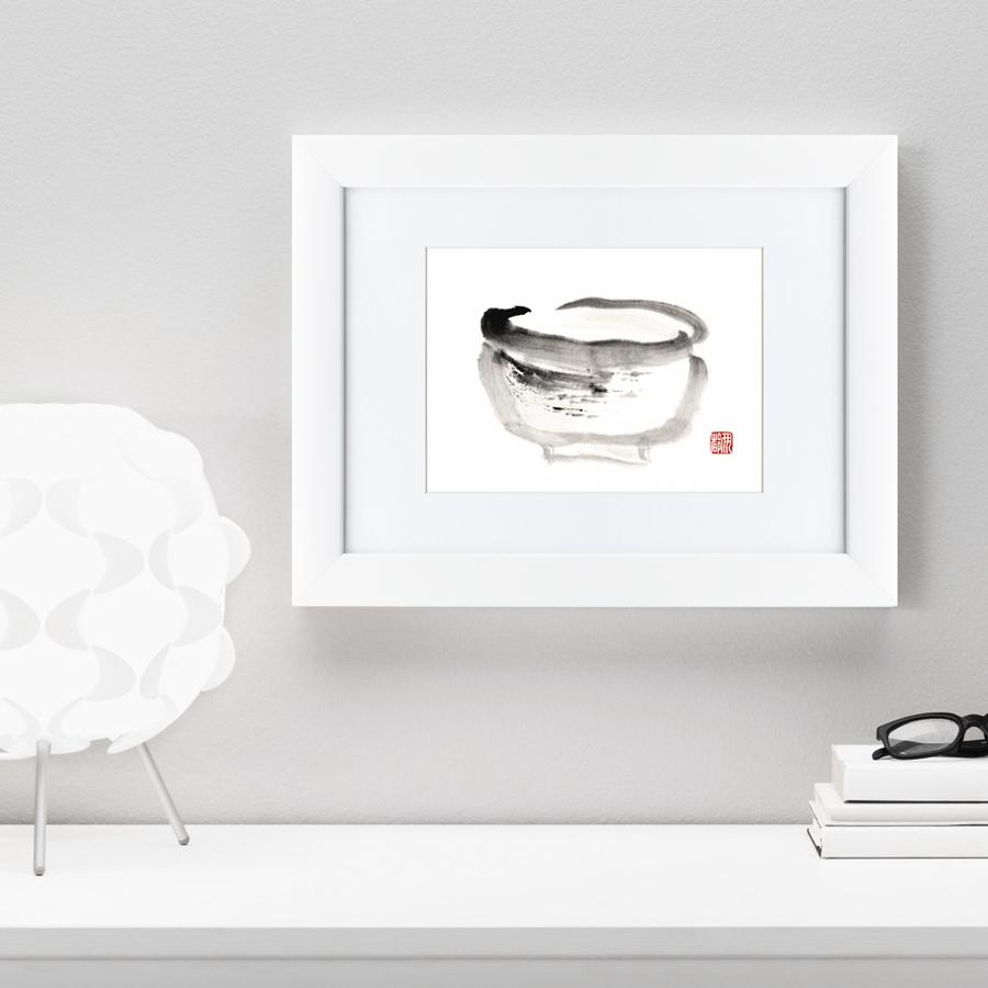 {} Картины в Квартиру Картина Японская Акварель Суми-э, Горшок (35х45 см) картины в квартиру картина убранное поле 35х45 см
