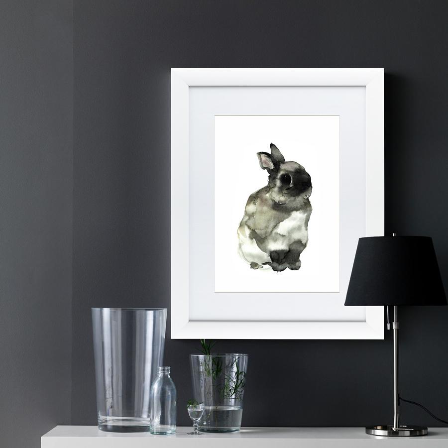 {} Картины в Квартиру Картина Японская Акварель Суми-э, Заяц (47х60 см) картины в квартиру картина пилигрим из мешхеда 47х60 см