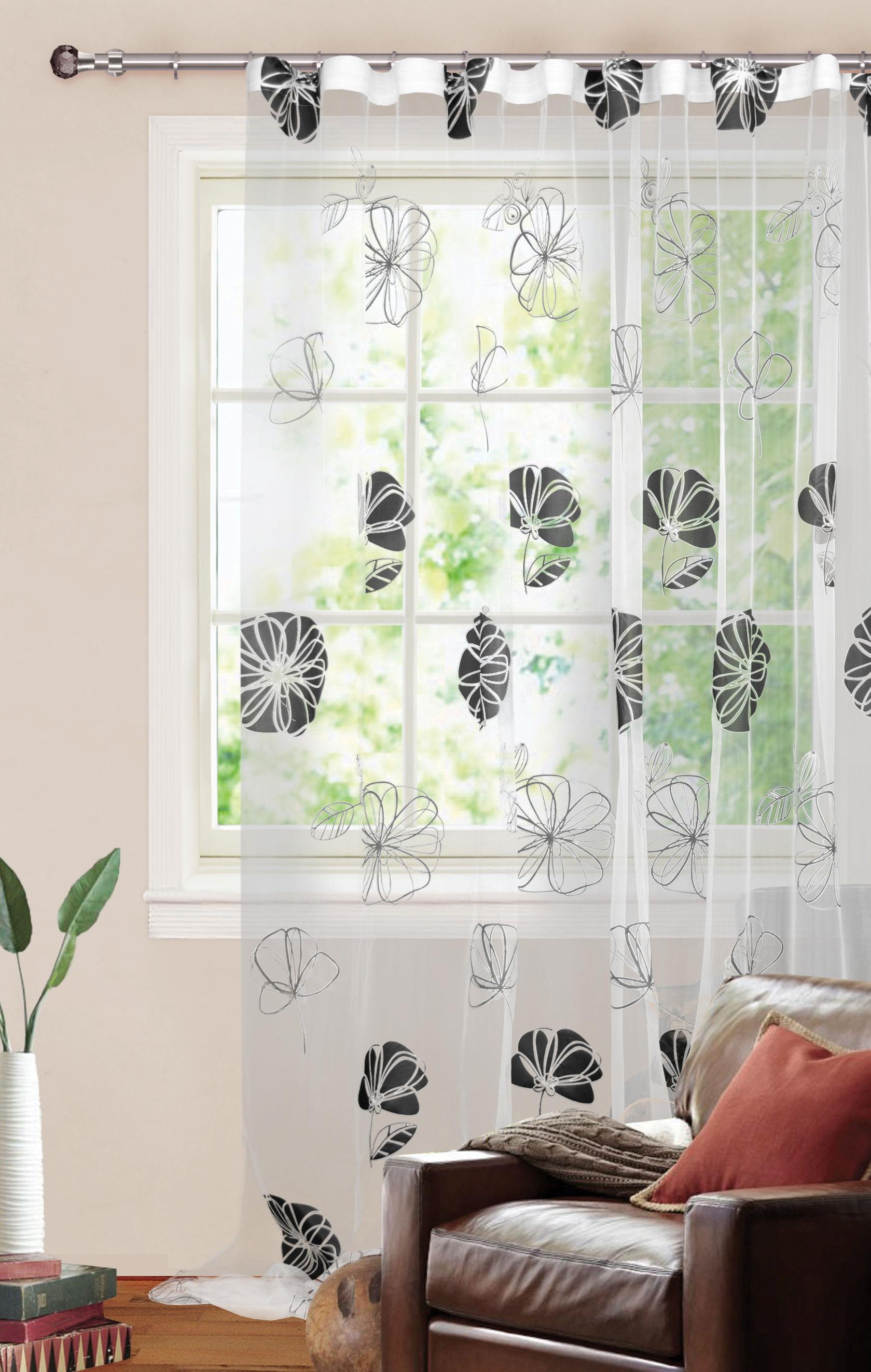 Шторы Garden Классические шторы Шелковый Цветок Цвет: Черно-Белый портьеры garden шторы