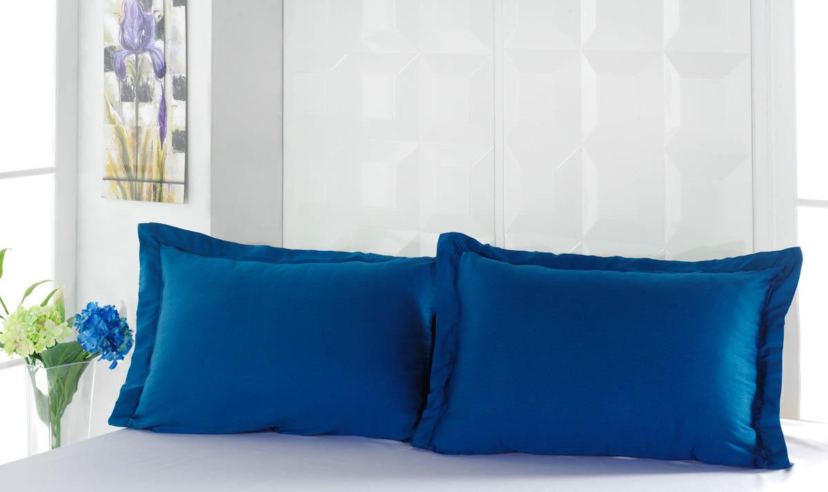 Наволочки Karna Наволочка Servan Цвет: Синий (Саксен) (50х70)