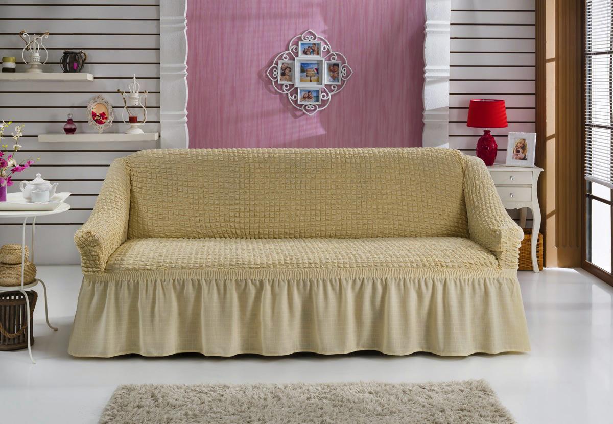 {} BULSAN Чехол для дивана Bulsan Цвет: Натурал bulsan набор чехлов для дивана bulsan цвет горчичный