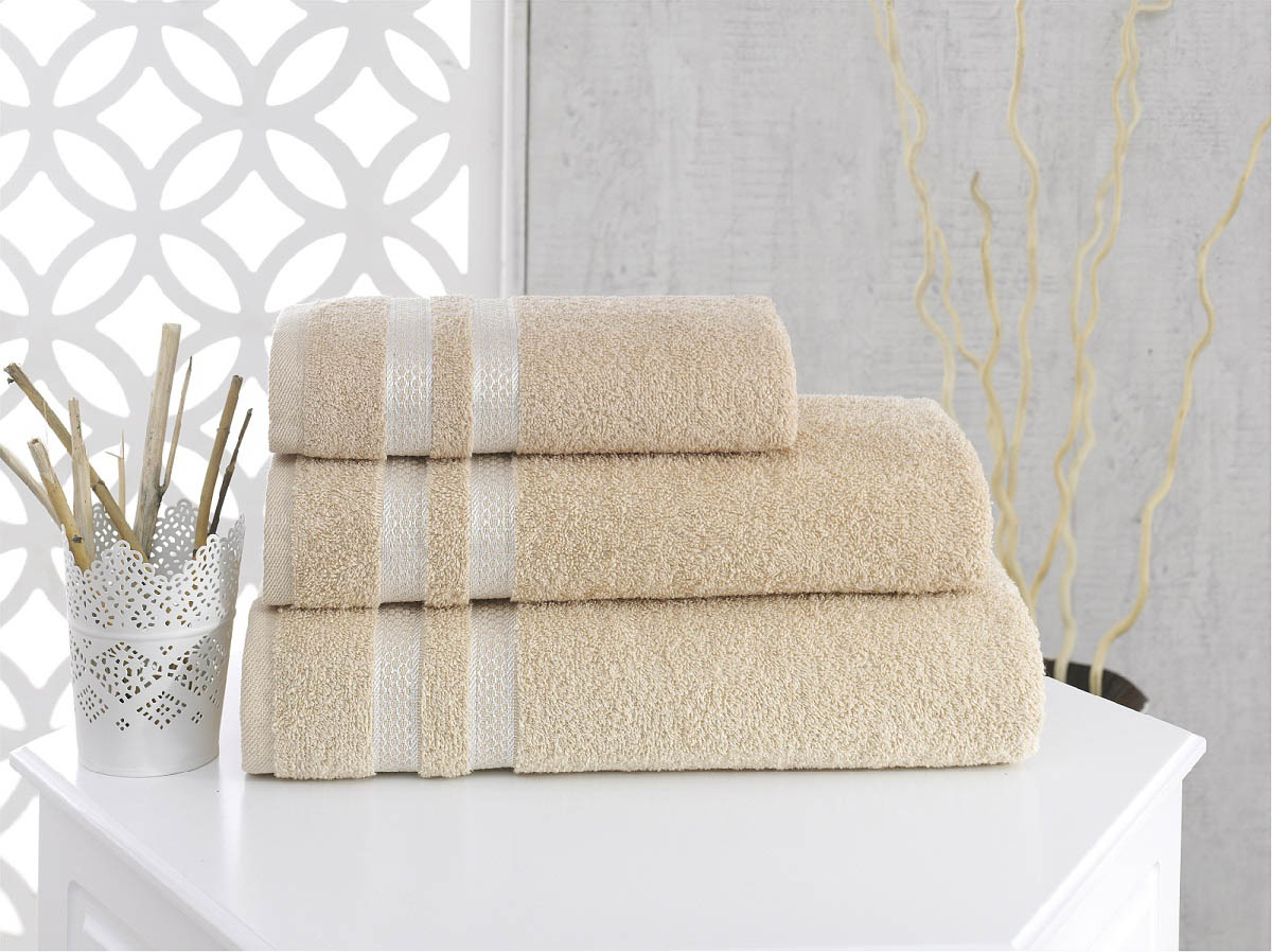 Полотенца Karna Полотенце Petek Цвет: Бежевый (50х100 см) полотенца karna полотенце petek цвет бежевый набор