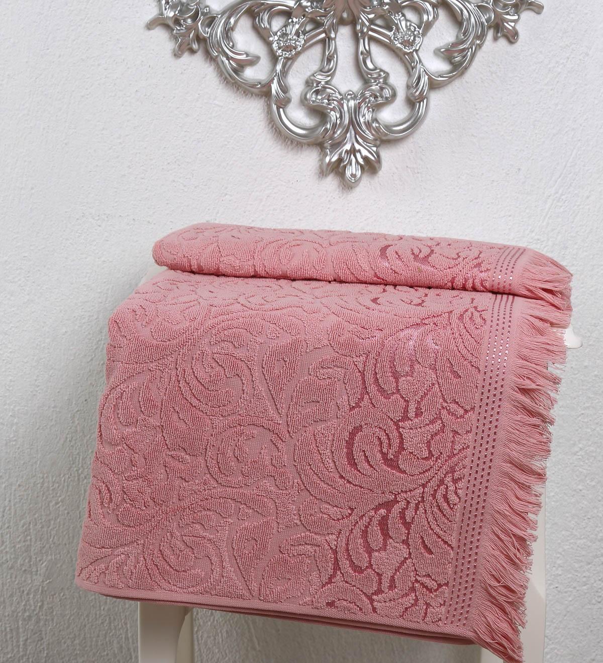где купить Полотенца Karna Полотенце Esra Цвет: Розовый (50х90 см) по лучшей цене