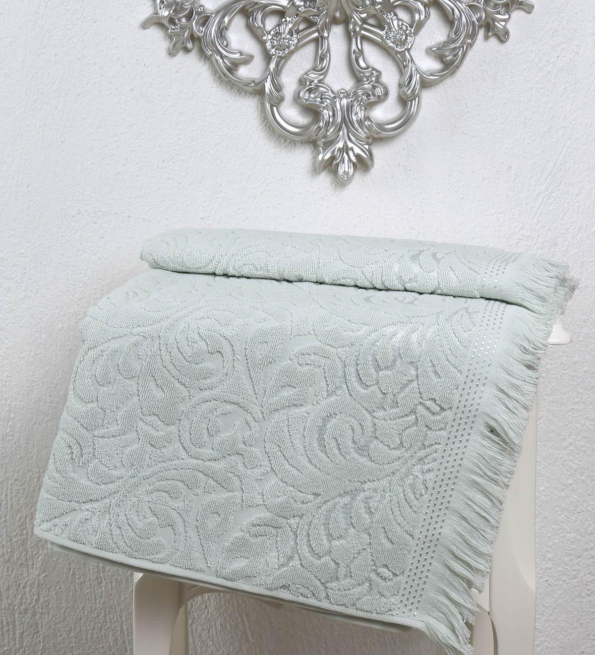 Полотенца Karna Полотенце Esra Цвет: Светло-Зеленый (70х140 см) полотенца karna полотенце iteka цвет коричневый 70х140 см
