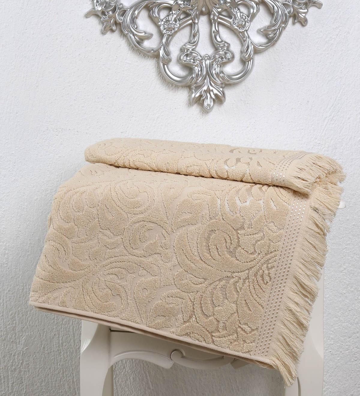 Полотенца Karna Полотенце Esra Цвет: Бежевый (70х140 см) karna karna полотенце innes цвет красный 70х140 см
