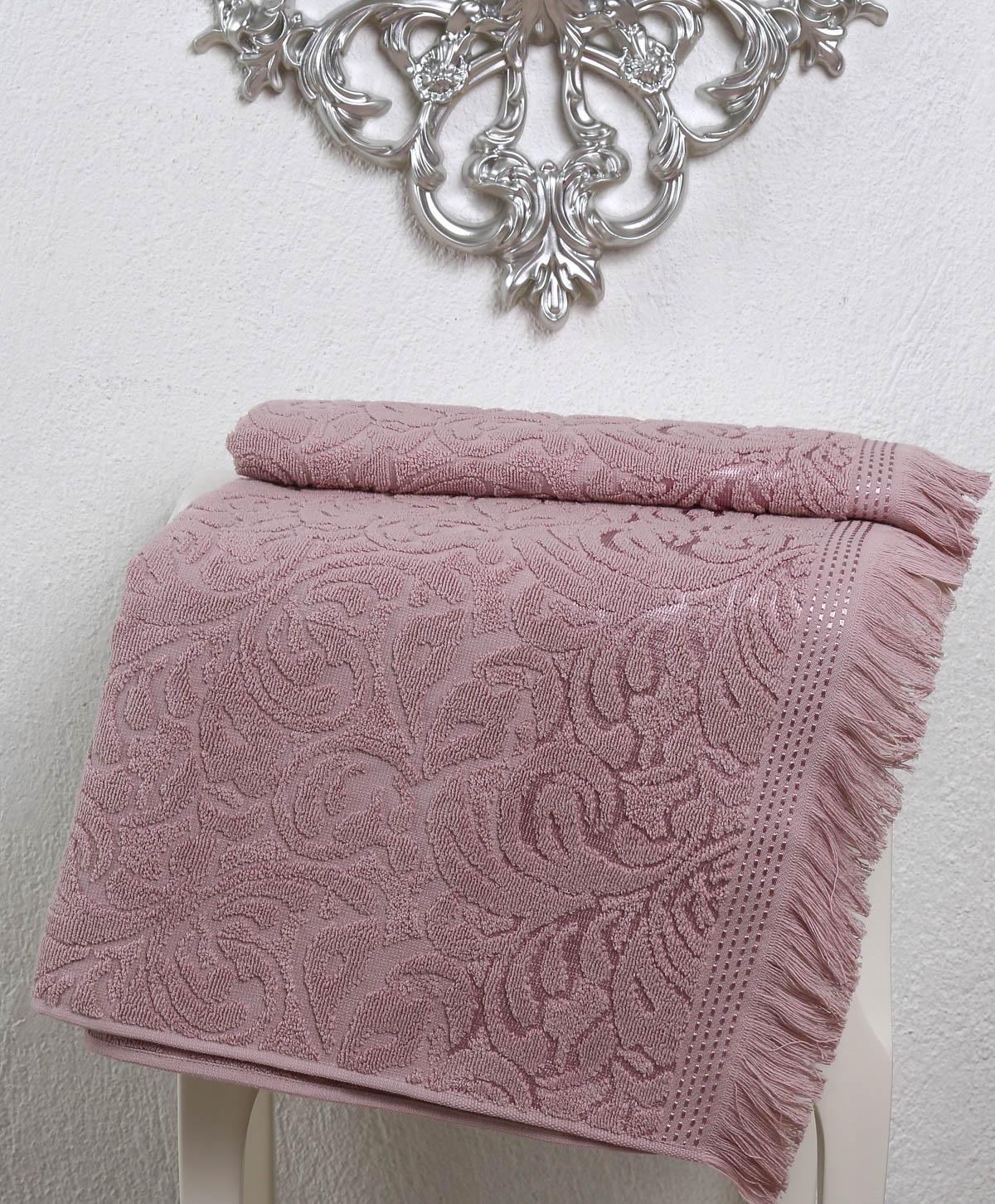 где купить Полотенца Karna Полотенце Esra Цвет: Грязно-Розовый (50х90 см) по лучшей цене