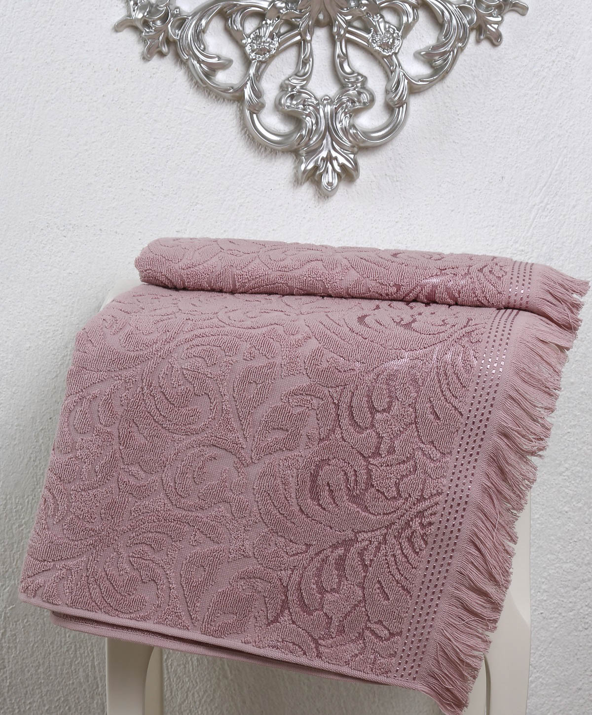 Полотенца Karna Полотенце Esra Цвет: Грязно-Розовый (70х140 см) karna karna полотенце innes цвет красный 70х140 см