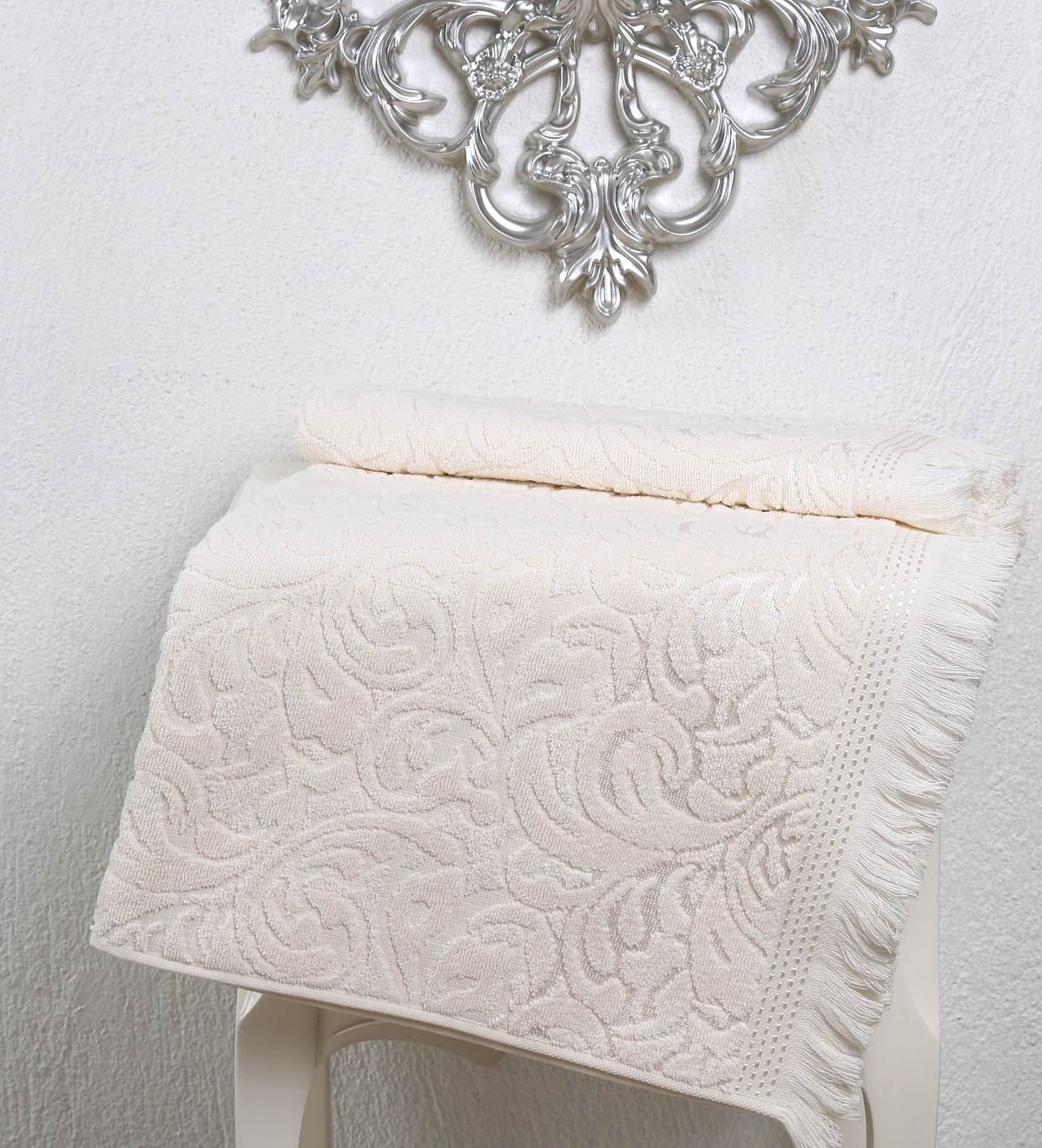 Полотенца Karna Полотенце Esra Цвет: Кремовый (70х140 см) karna karna полотенце innes цвет красный 70х140 см