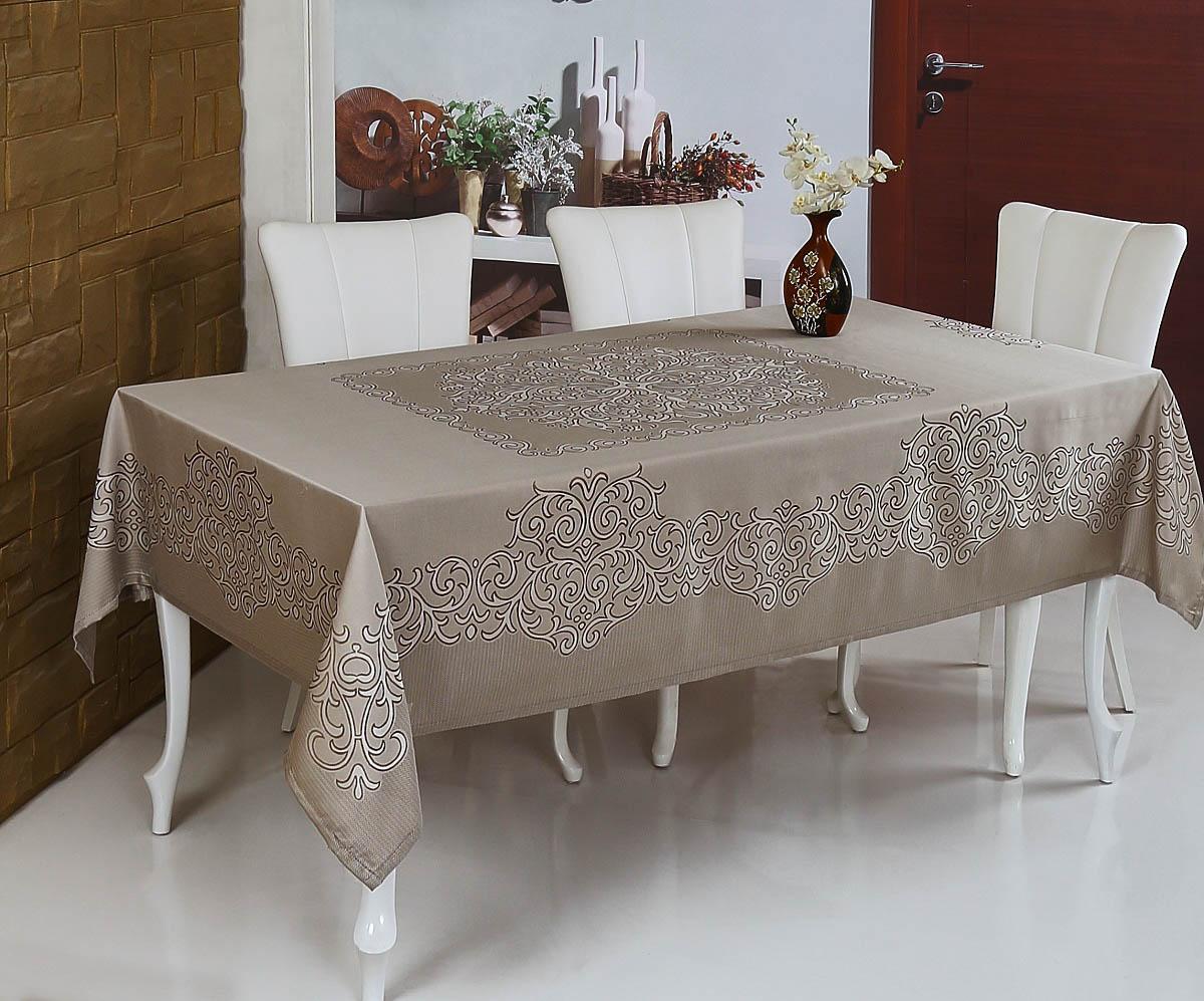 Скатерти и салфетки Monalit Скатерть Linen Цвет: Коричневый (160х220 см)