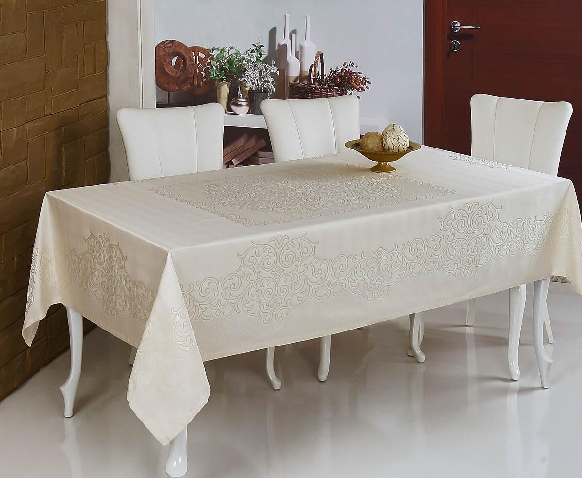 Скатерти и салфетки Monalit Скатерть Linen Цвет: Кремовый (160х220 см)