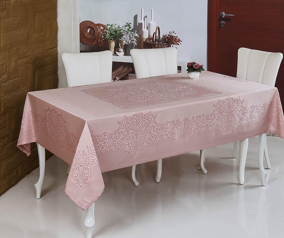 Скатерти и салфетки Monalit Скатерть Linen Цвет: Пудра (160х220 см)
