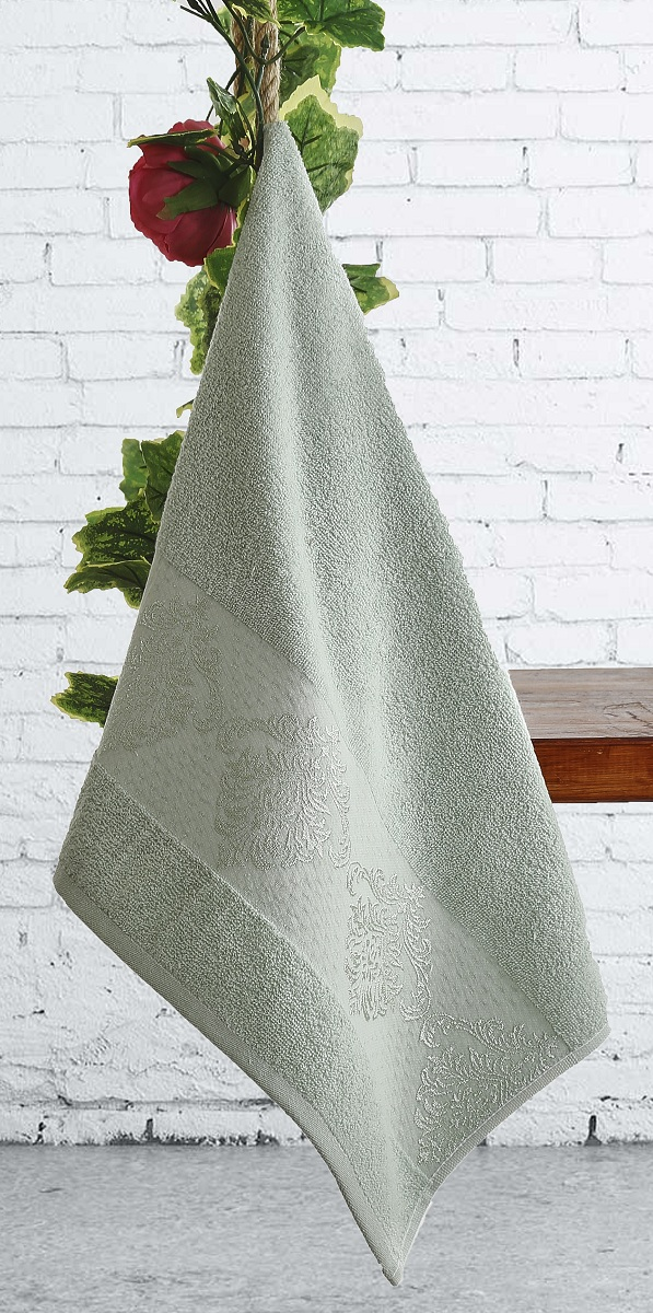 Полотенца Karna Полотенце Dora Цвет:  Зеленый Зеленый (70х140 см) полотенца karna полотенце iteka цвет коричневый 70х140 см