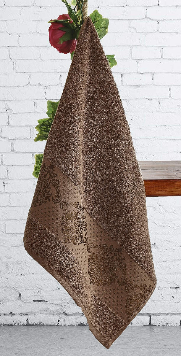 Полотенца Karna Полотенце Dora Цвет:  Коричневый Коричневый (70х140 см) полотенца karna полотенце iteka цвет коричневый 70х140 см