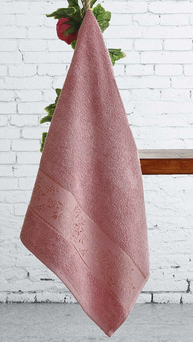 Полотенца Karna Полотенце Lauren Цвет:  Грязно-розовый (70х140 см) полотенца karna полотенце iteka цвет коричневый 70х140 см