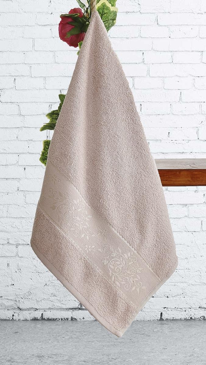 Полотенца Karna Полотенце Lauren Цвет:  Пудра (70х140 см) полотенца karna полотенце iteka цвет коричневый 70х140 см