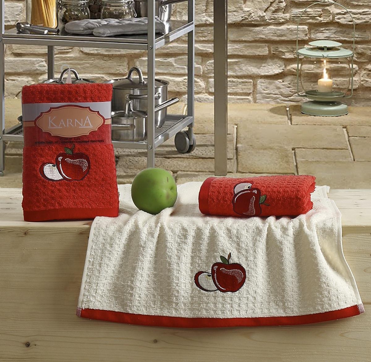 {} Karna Кухонное полотенце Lemon Цвет: Красный V1 (45х65 см - 2 шт) karna кухонное полотенце lemon цвет красный v3 45х65 см 2 шт