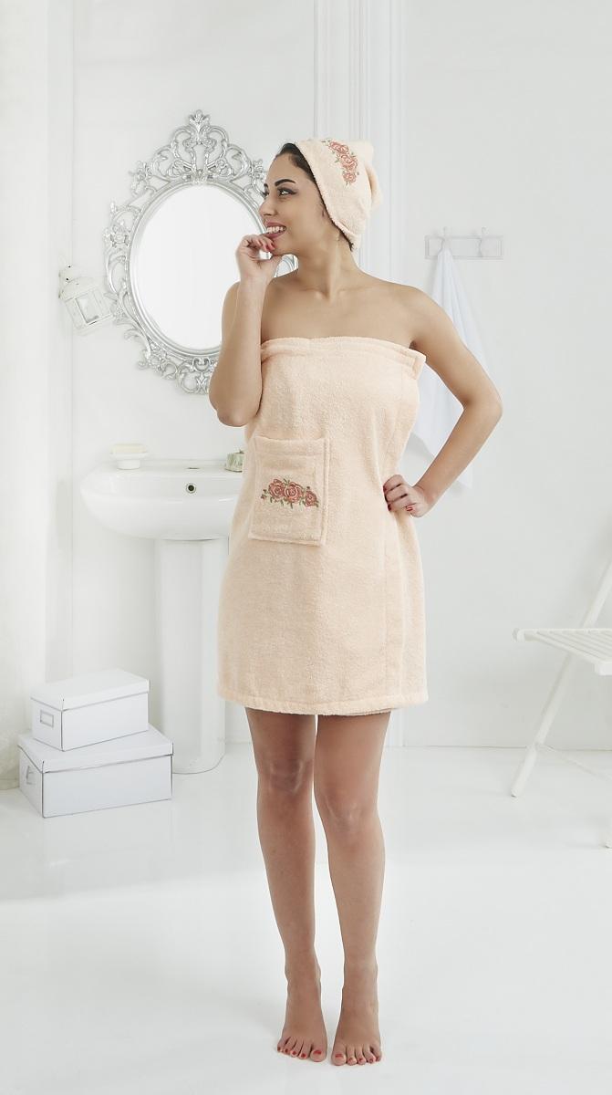 Сауны, бани и оборудование Karna Набор для сауны Pera Цвет: Абрикосовый сауны бани и оборудование valentini набор для сауны flower цвет розовый