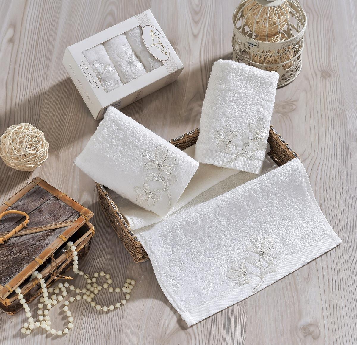где купить {} IRYA Кухонное полотенце Senses Цвет: Молочный (30х50 см - 3 шт) по лучшей цене