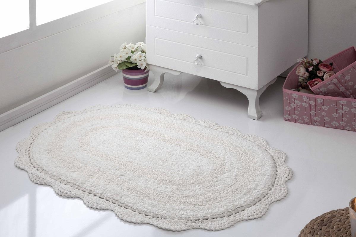 Аксессуары для ванной и туалета Modalin Коврик для ванной Diana Цвет: Кремовый (50х80 см) modalin modalin полотенце petek цвет розовый 70х140 см
