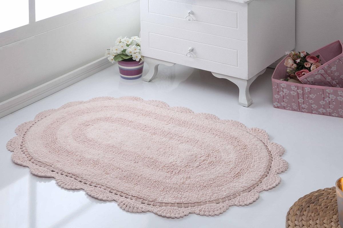 Аксессуары для ванной и туалета Modalin Коврик для ванной Diana Цвет: Пудра (50х80 см) modalin modalin полотенце petek цвет розовый 70х140 см