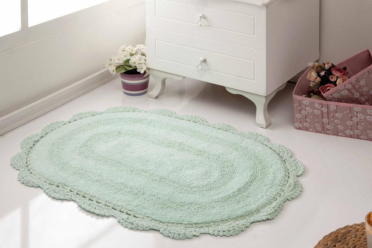 Аксессуары для ванной и туалета Modalin Коврик для ванной Diana Цвет: Светло-Зеленый (50х80 см) modalin modalin полотенце petek цвет розовый 70х140 см