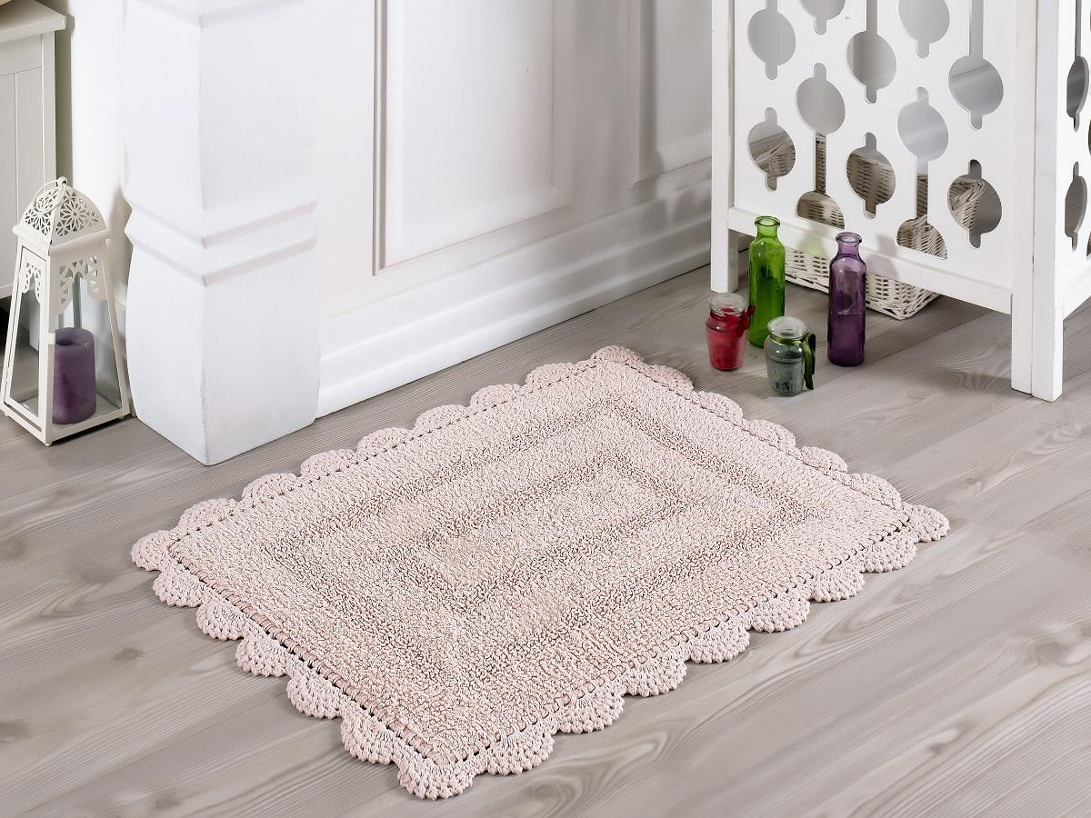 Аксессуары для ванной и туалета Modalin Коврик для ванной Evora Цвет: Пудра (50х70 см) modalin modalin полотенце petek цвет розовый 70х140 см