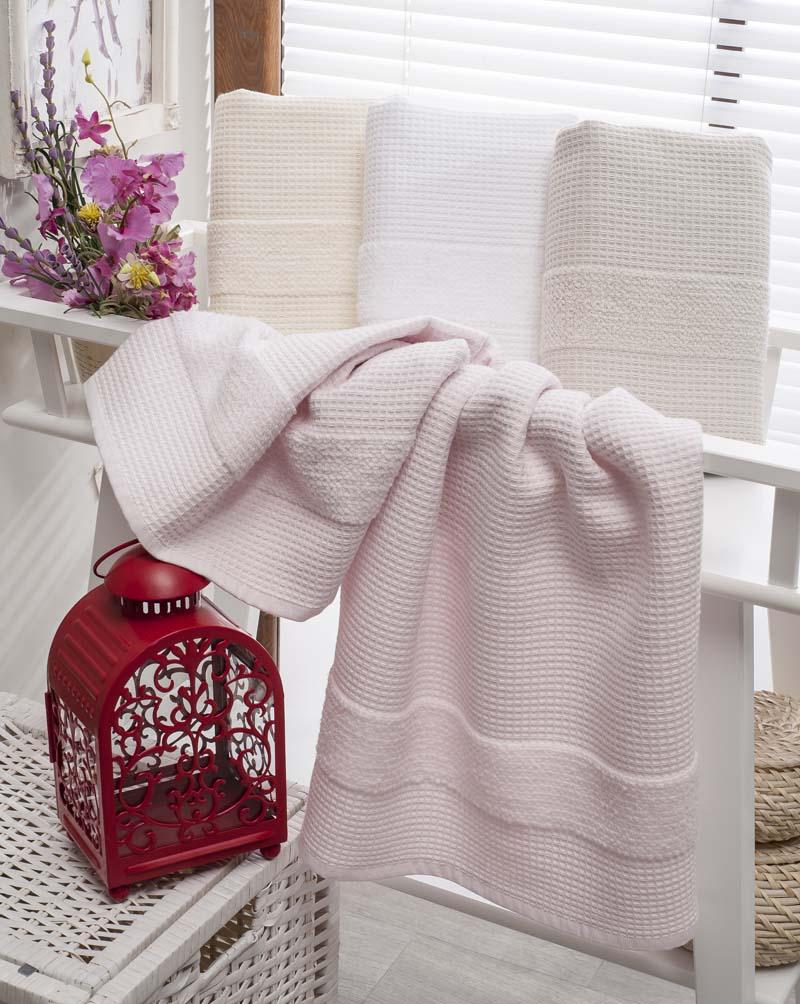 Полотенца Karna Полотенце Truva Цвет: Светло-Розовый (70х140 см) наматрасник karna с пропиткой 120x200 см