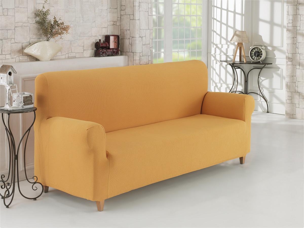 {} Karna Чехол для мебели Napoli Цвет: Горчичный (Трехместный) every набор чехлов для дивана every цвет горчичный