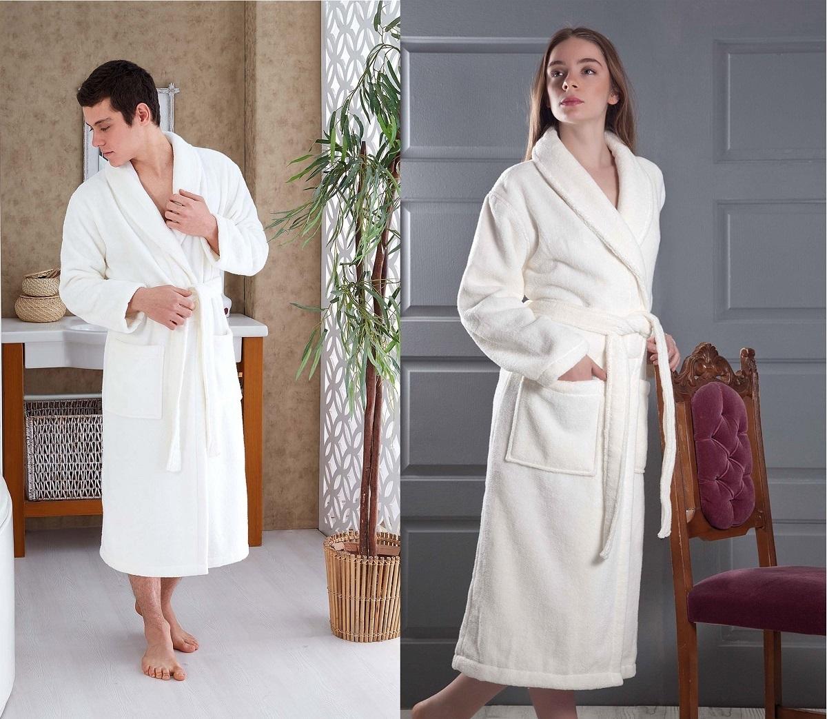 Сауны, бани и оборудование Karna Халат Mora Цвет: Кремовый (L)