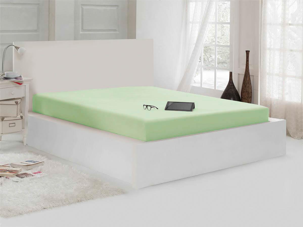 Простыни Karna Простыня на резинке Thyrza Цвет: Зеленый (100х200) наматрасник karna 100 200 см с пропиткой