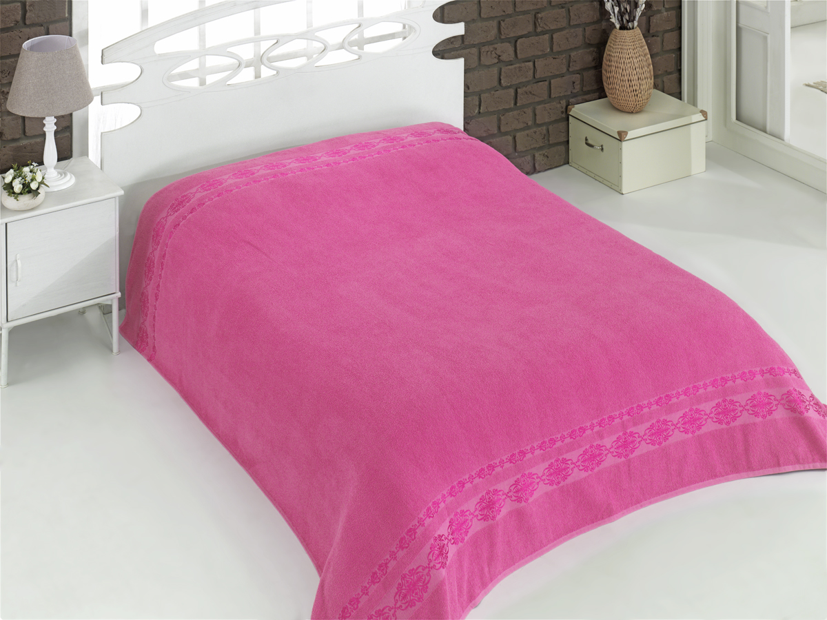 {} Karna Покрывало-простыня Rebeka Цвет: Розовый (200х220 см) покрывало karna rose с вышивкой пудра 200х220 см