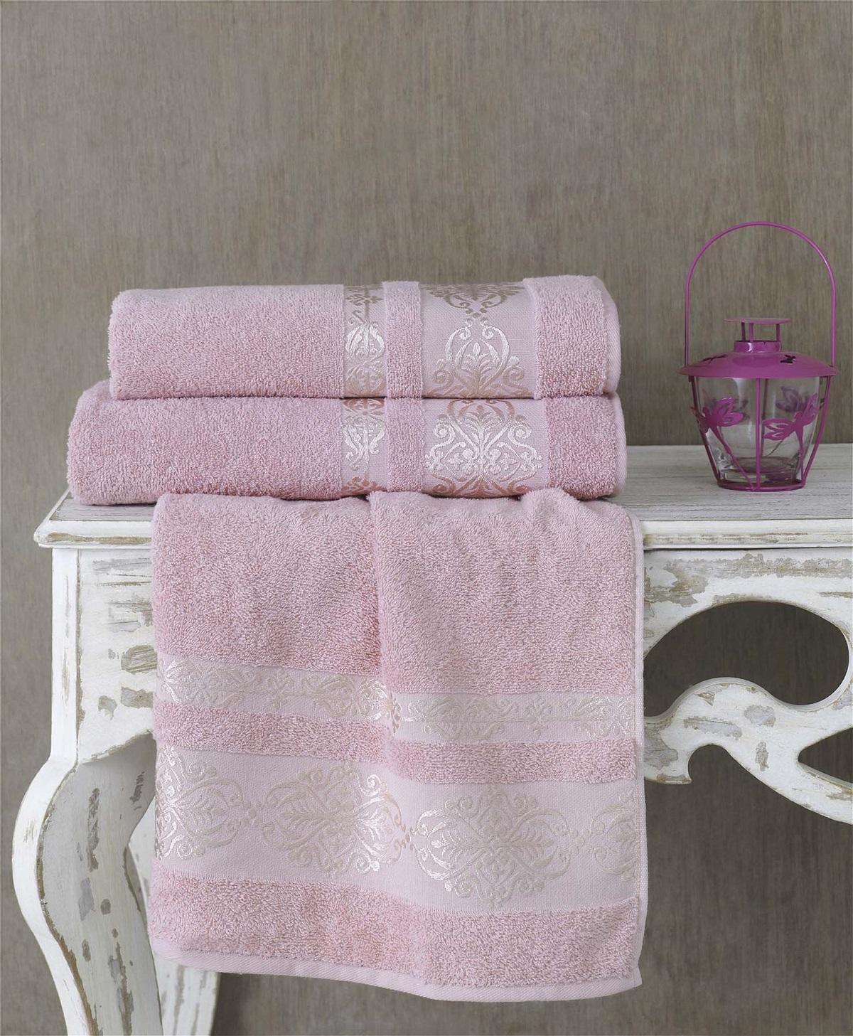 Полотенца Karna Полотенце Rebeka Цвет: Грязно-Розовый (70х140 см) полотенца karna полотенце iteka цвет коричневый 70х140 см