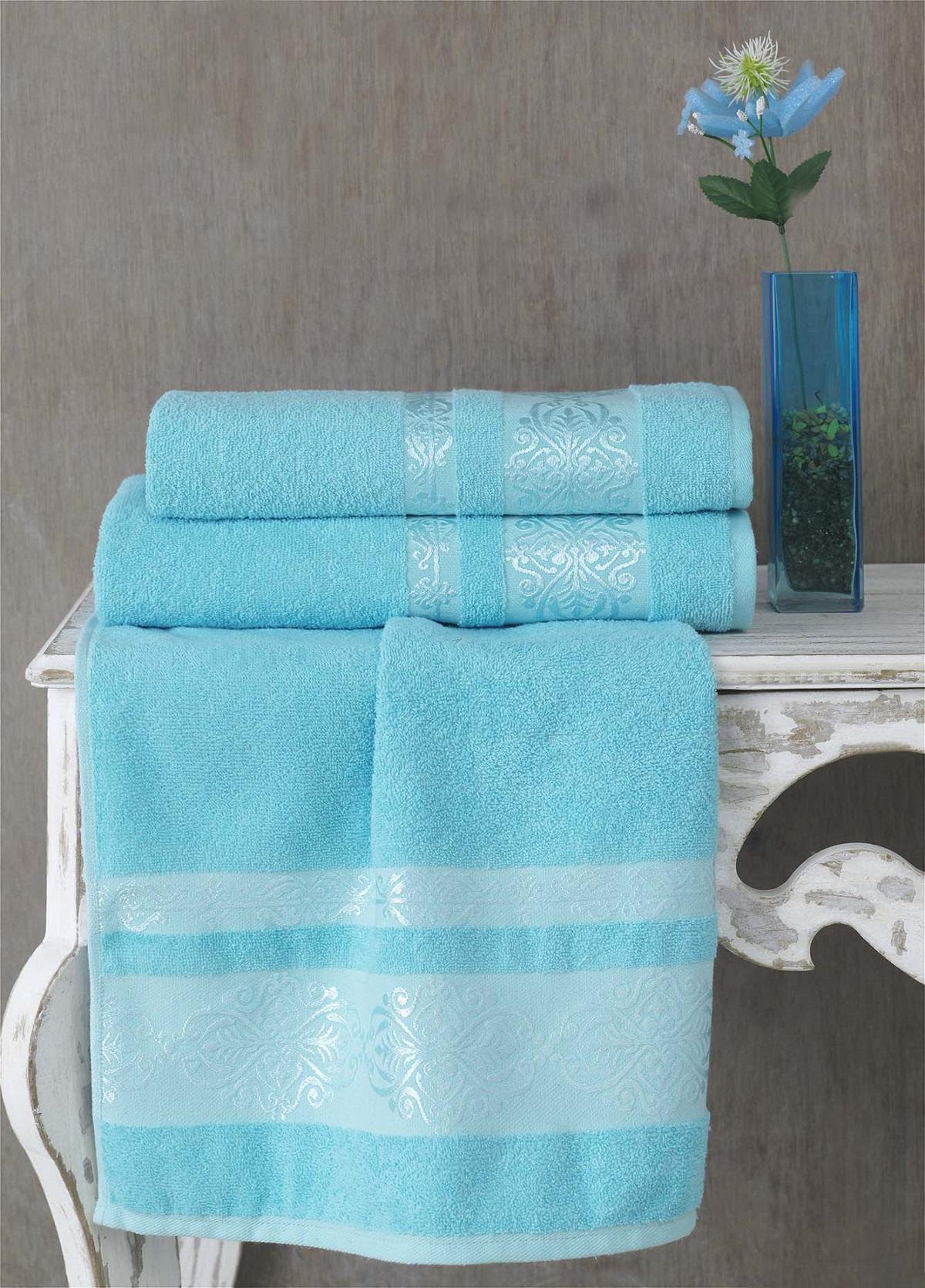 Полотенца Karna Полотенце Rebeka Цвет: Бирюзовый (70х140 см) полотенца karna полотенце iteka цвет коричневый 70х140 см
